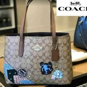 COACH Keith Haring Avenue Carryall With Patches
